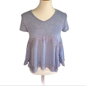 Cloud Chaser Lilac Purple with Lace Top Size XS